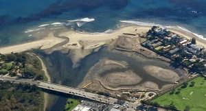 Aerial view of Malibu Lagoon Courtesy of Santa Monica Bay Restoration Commission (SMBRC), made possible by LightHawk