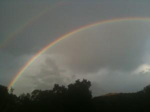 Rainbow in Santa Monica Mountains   Photo by Vincent Scott